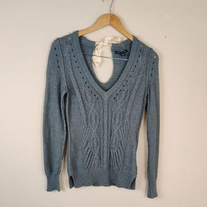 Banana Republic Tie Back Cable Knit Sweater